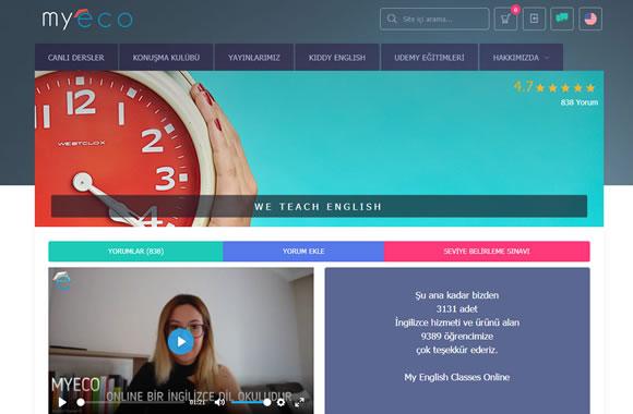 Dinamik öğretmenler ve kendi yayınlarımız ile Online Canlı İngilizce Dersleri