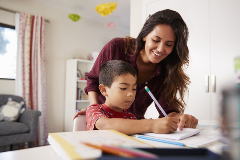 How can children learn English at home?